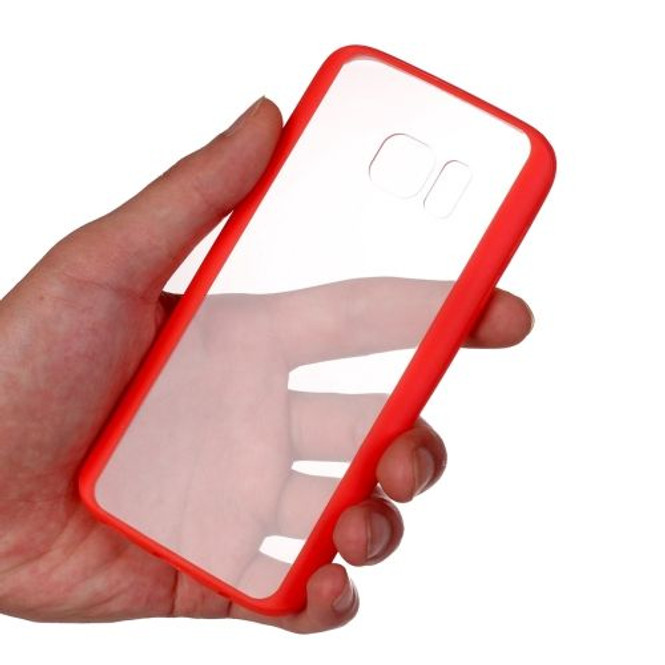 Dark Red Acrylic Clear Samsung Galaxy S7 EDGE Case | Fashion Samsung Galaxy S7 Cases | Protective Samsung Galaxy S7 Covers | iCoverLover