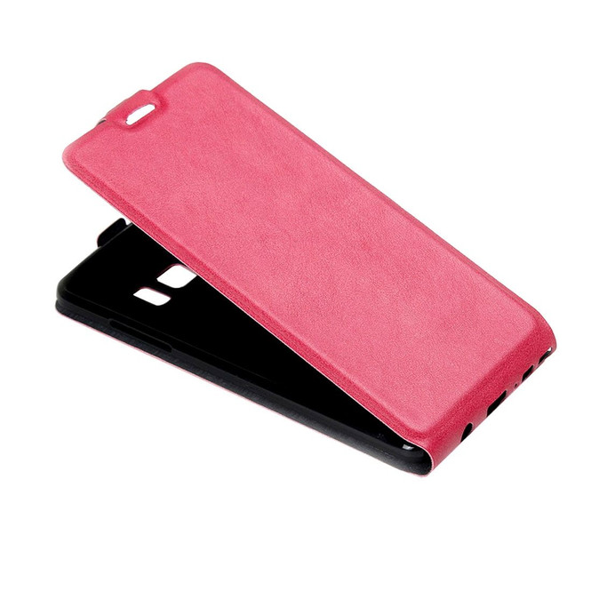 Magenta Vertical Flip Samsung Galaxy Note FE Case   Leather Samsung Galaxy Note FE Cases   Leather Samsung Galaxy Note FE Covers   iCoverLover