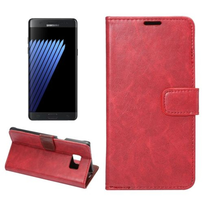 Red Horse Texture Wallet Samsung Galaxy Note FE Case | Leather Samsung Galaxy Note FE Cases | Leather Samsung Galaxy Note FE Covers | iCoverLover