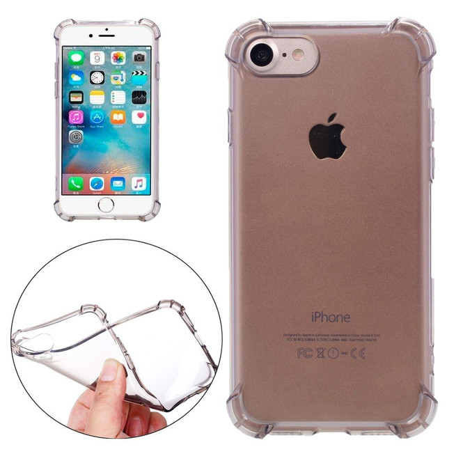 Black Clear Cushions Grippy iPhone SE (2020) / 8 / 7 Case | iCoverLover