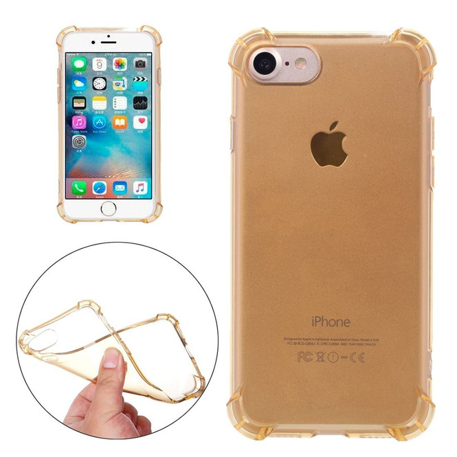 Gold Clear Cushions Grippy iPhone SE (2020) / 8 / 7 Case   iCoverLover