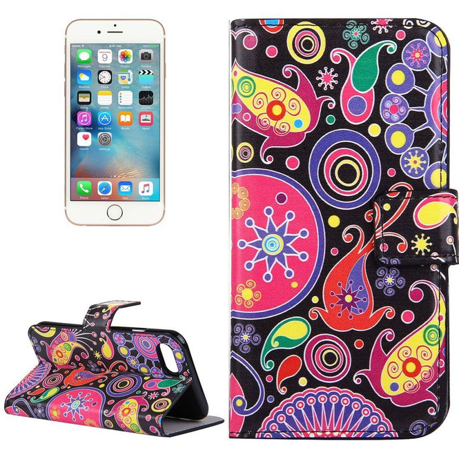 Colourful Acaleph Leather Wallet iPhone SE (2020) / 8 / 7 Case | iCoverLover