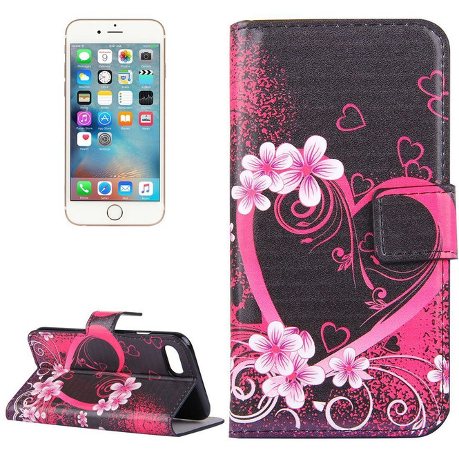 Blossoming Heart Leather Wallet iPhone SE (2020) / 8 / 7 Case | iCoverLover