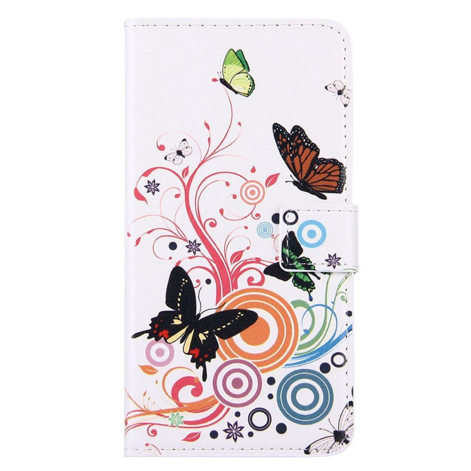 Colourful Butterflies Leather Wallet iPhone 8 PLUS & 7 PLUS Case | iPhone 8 PLUS & 7 PLUS Case Leather Cases | iPhone 8 PLUS & 7 PLUS Case Leather Covers | iCoverLover