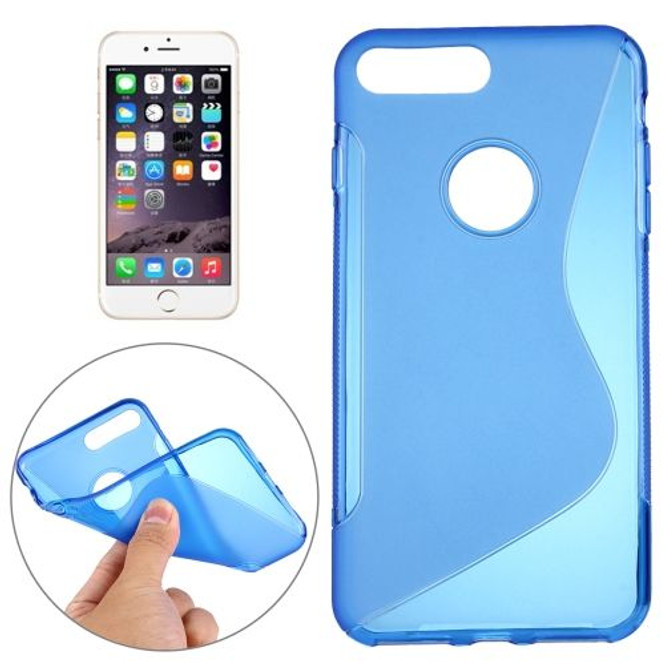 Blue Grippy S-Shaped iPhone 8 PLUS & 7 PLUS Case | Protective iPhone 8 PLUS & 7 PLUS Cases | Protective iPhone 8 PLUS & 7 PLUS Covers | iCoverLover