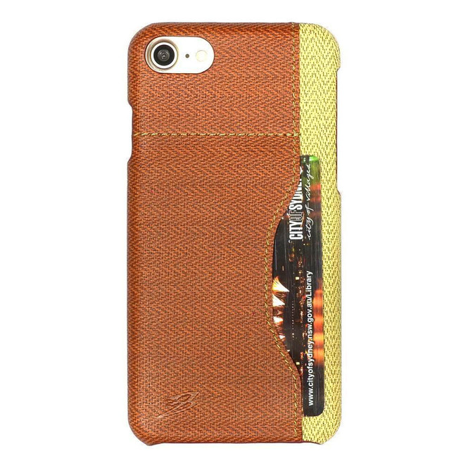 Brown Woven Pattern Leather iPhone SE (2020) / 8 / 7 Case | iCoverLover