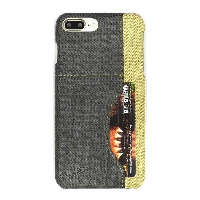 Black Woven Pattern Leather iPhone 8 PLUS & 7 PLUS Case | Protective iPhone 8 PLUS & 7 PLUS Cases | Protective iPhone 8 PLUS & 7 PLUS Covers | iCoverLover