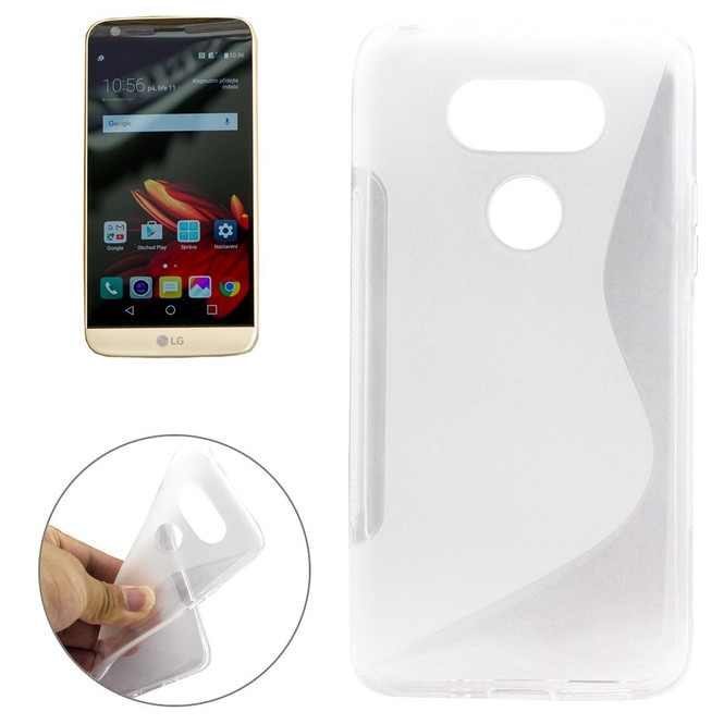 Clear Grippy S-Shaped LG G5 Case | Protective LG G5 Cases | Protective LG G5 Covers | iCoverLover