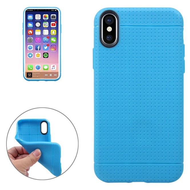 Blue Honeycomb Dropproof iPhone XS & X Case   Protective iPhone XS & X Covers   Protection iPhone XS & X Case   iCoverLover