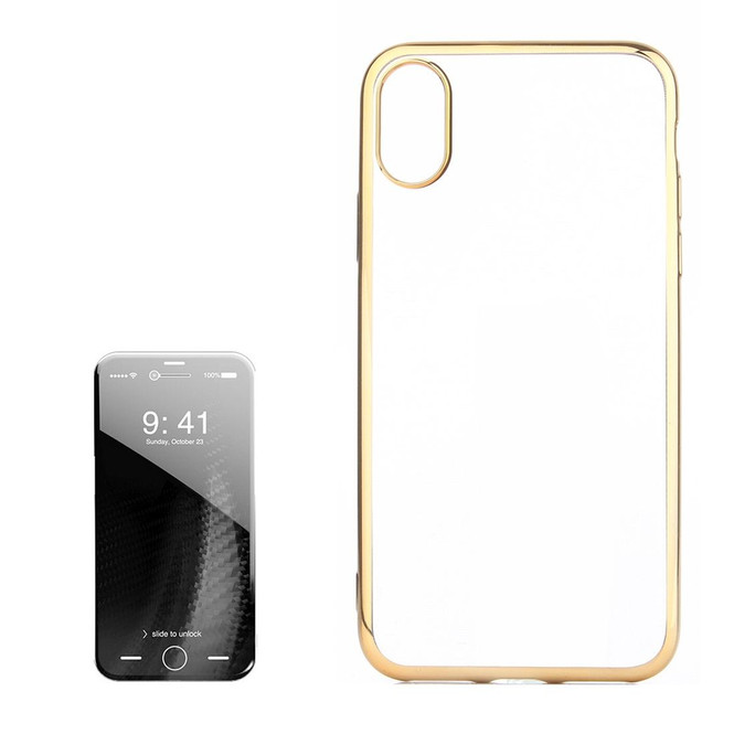 Gold Transparent Electroplating iPhone XS & X Case| Protective iPhone XS & X Covers | Protection iPhone XS & X Case | iCoverLover