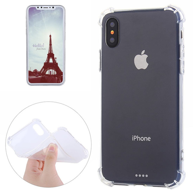 Clear Grippy TPU iPhone XS & X Back Case | Protective iPhone XS & X Covers | Protective iPhone XS & X Cases | iCoverLover