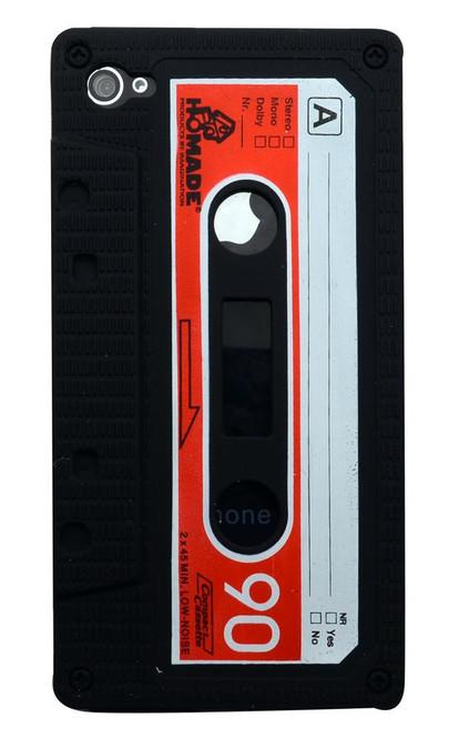 Black Cassette Tape iPhone 4 Case | Cassette iPhone 4 Case | Tape iPhone 4 Cover | iCoverLover