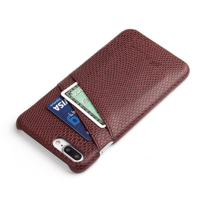 Brown Deluxe Snake Pattern Leather iPhone 8 PLUS & 7 PLUS Case  | Leather iPhone 8 PLUS & 7 PLUS Covers | Leather iPhone 8 PLUS & 7 PLUS Cases | iCoverLover