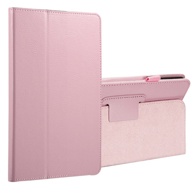 Pink Lychee Leather Samsung Galaxy Tab A 8.0 Case | Leather Samsung Galaxy Tab A 8.0 (2017) Covers | Leather Samsung Galaxy Tab A 8.0 (2017) Cases | iCoverLover