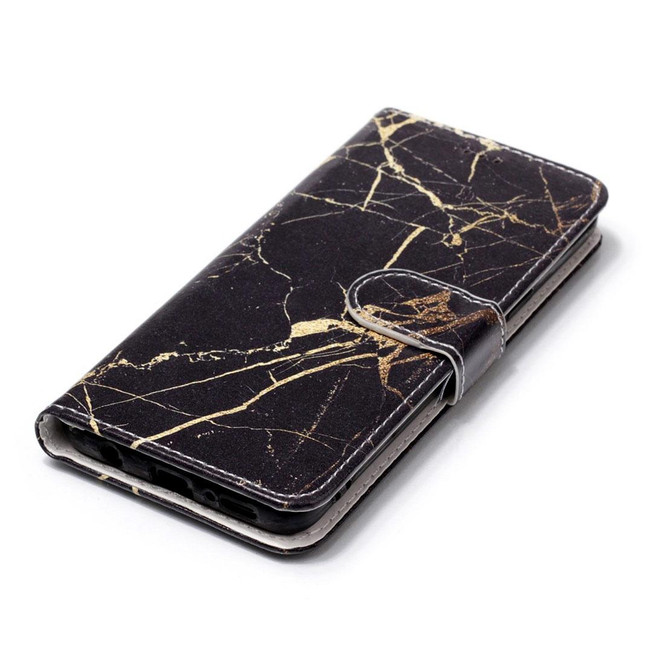 Black Gold Marble Pattern Leather Wallet Samsung Galaxy S9 Case   Leather Samsung Galaxy S9 Plus Cases   Folio Samsung Galaxy S9 Plus Covers   iCoverLover