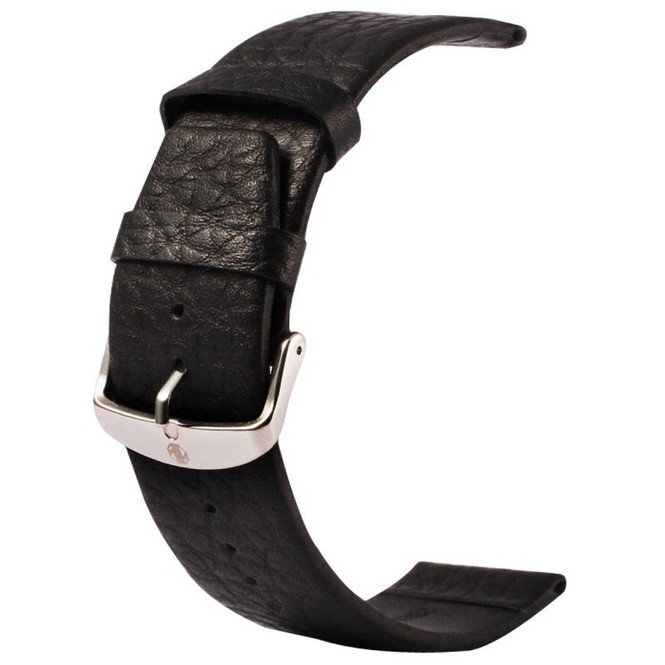 Black Apple Watch 1,2,3,4(40mm,38mm) Buffalo Hide Genuine Leather Watch Band | Genuine Leather Apple Watch Bands | iCoverLover