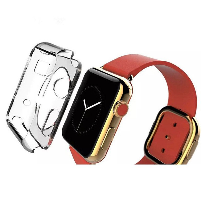 Apple Watch 1,2,3,4(40mm,38mm) Clear Crystal TPU Protective Case | Silicone Sports Apple Watch Cases | iCoverLover