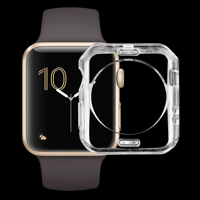 Apple Watch Series 1,2,3,4 (44mm,42mm) Transparent Soft TPU Protective Case | Silicone Sports Apple Watch Cases | iCoverLover