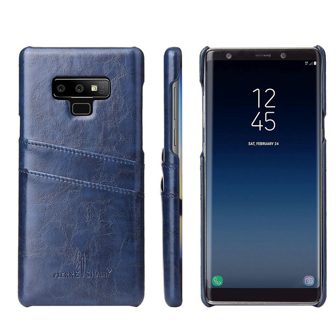 Samsung Galaxy Note 9 Case Blue Deluxe Leather Back Shell Cover | Leather Samsung Galaxy Note 9 Covers | Leather Samsung Galaxy Note 9 Cases | iCoverLover