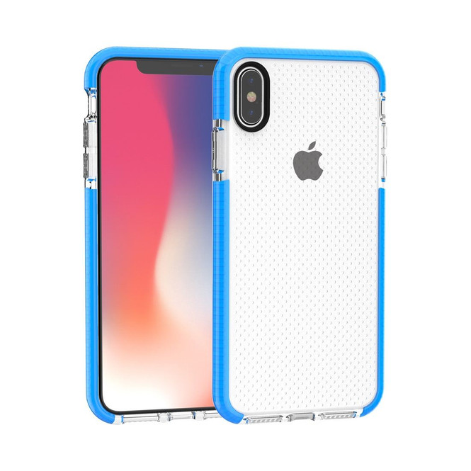 Blue Basketball Texture Anti-collision TPU iPhone XS MAX Case   Protective Apple iPhone XS MAX Cases   Protective Apple iPhone XS MAX Covers   iCoverLover