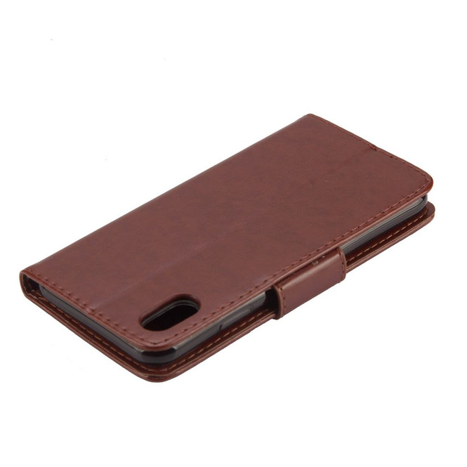 iPhone XR Case Brown Embossed Butterfly Pattern Horizontal Flip Leather Case with Holder, Lanyard & Wallet   Leather Apple iPhone XR Covers   Leather Apple iPhone XR Cases   iCoverLover