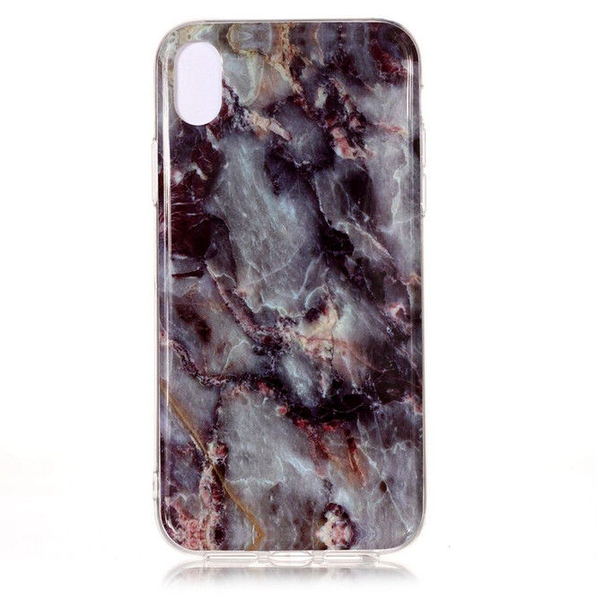 iPhone XS & X Case Grey Marble Pattern Soft TPU Shockproof Back Shell Cover   Protective Apple iPhone XS & X Covers   Protective Apple iPhone XS & X Cases   iCoverLover