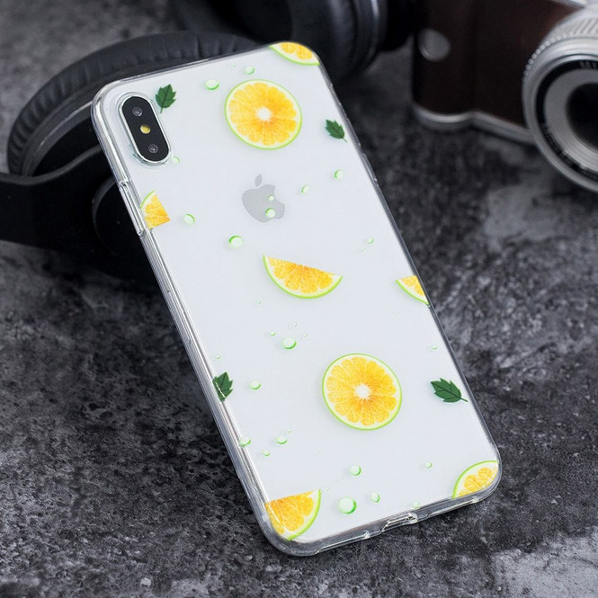 iPhone XS Max Navel Orange Pattern Highly Clear Soft TPU Protective Cover   Protective Apple iPhone XS Max Covers   Protective Apple iPhone XS Max Cases   iCoverLover