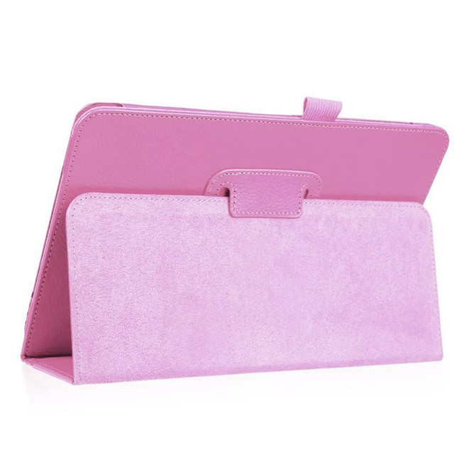 Samsung Galaxy Tab S4 Pink 10.5 Lychee Texture Folio Leather Case with Built-in Kickstand, Drop-proof and Anti-Scratch | Leather Samsung Galaxy Tab S4 Covers | Leather Samsung Galaxy Tab S4 Cases | iCoverLover