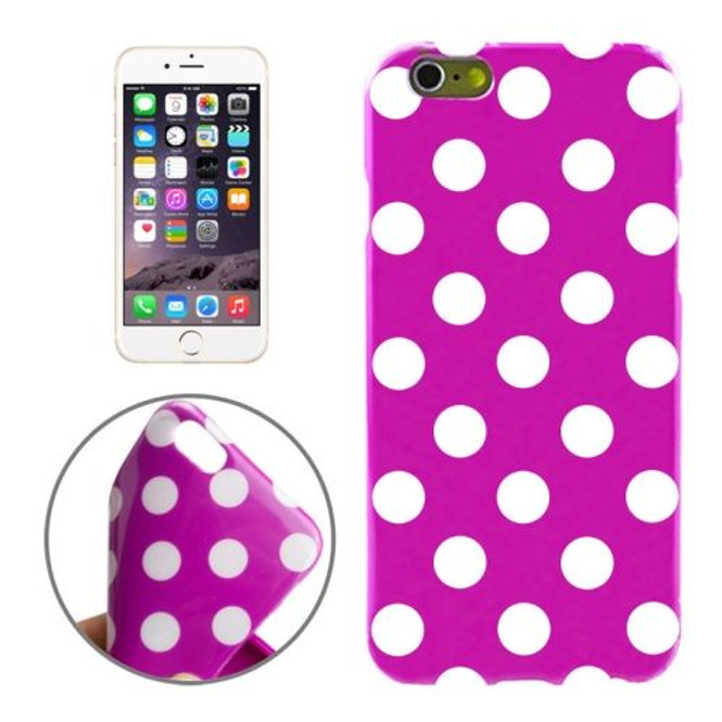 Purple and White Polka Dot iPhone 6 Plus & 6S Plus Case   Cool iPhone Cases   iPhone Covers   iCoverLover
