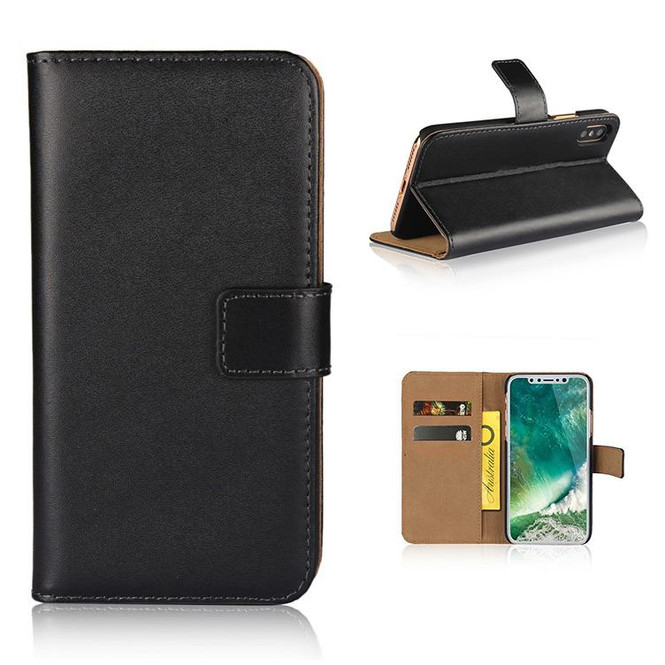 Black Slim Leather Wallet iPhone XS Max Case | Leather iPhone XS Max Cases | Leather iPhone XS Max Covers