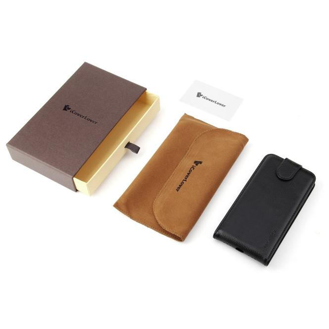 iCoverLover Black Vertical Flip Genuine Leather iPhone XS & X Case | iPhone XS & X Genuine Leather Covers | iPhone XS & X Genuine Leather Cases | iPhone Covers | iCoverLover