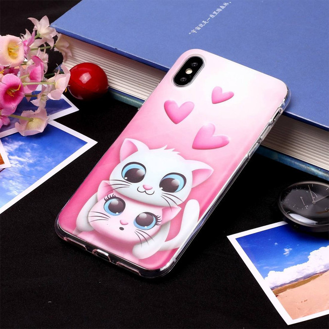 iPhone XS Max Case Embellished Lovers Cat Soft TPU Protective Back Case with Anti-Scratch Grippy Material   Protective Apple iPhone XS Max Cases   Protective Apple iPhone XS Max Covers   iCoverLover