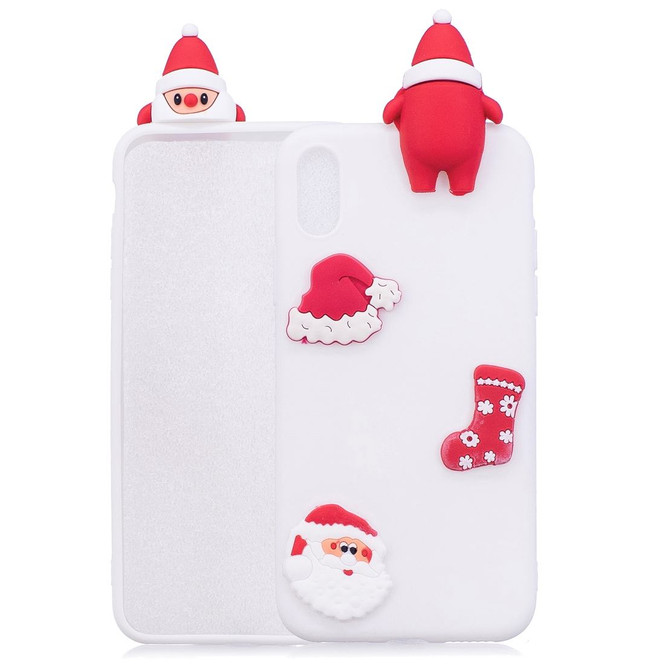 iPhone XR Case White 3D Paster Santa Claus Ornament Back Cover with Scratch-Resistance, Shockproof, and Anti-Slip   Protective Apple iPhone XR Cases   Protective Apple iPhone XR Covers   iCoverLover
