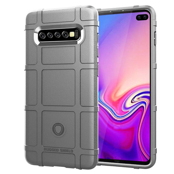 Samsung Galaxy S10 PLUS Case Grey Silicone Back Cover with Shockproof and Antiscratch Features   Protective Samsung Galaxy S10 Plus Covers   Protective Samsung Galaxy S10 Plus Cases   iCoverLover