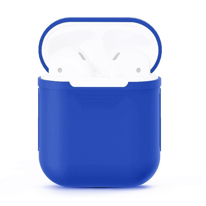 For Apple Airpods 1 & 2 Storage Bag Peacock Blue Silicone Protective Box with Impact-resistant, Scratch-proof and Antiloss | AirPods Accessories | iCoverLover