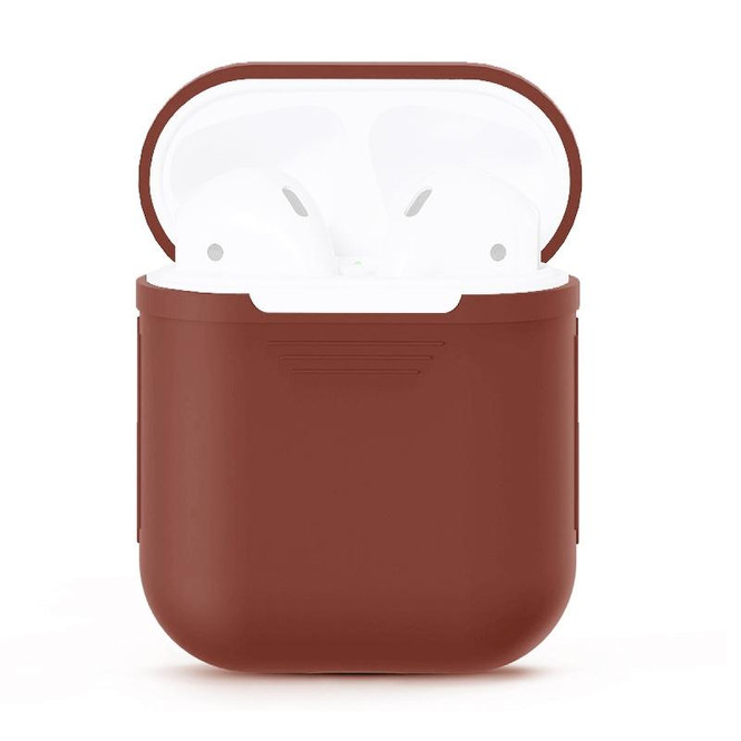 For Apple Airpods 1 & 2 Storage Bag Brown Silicone Protective Box with Impact-resistant, Scratch-proof and Antiloss | AirPods Accessories | iCoverLover