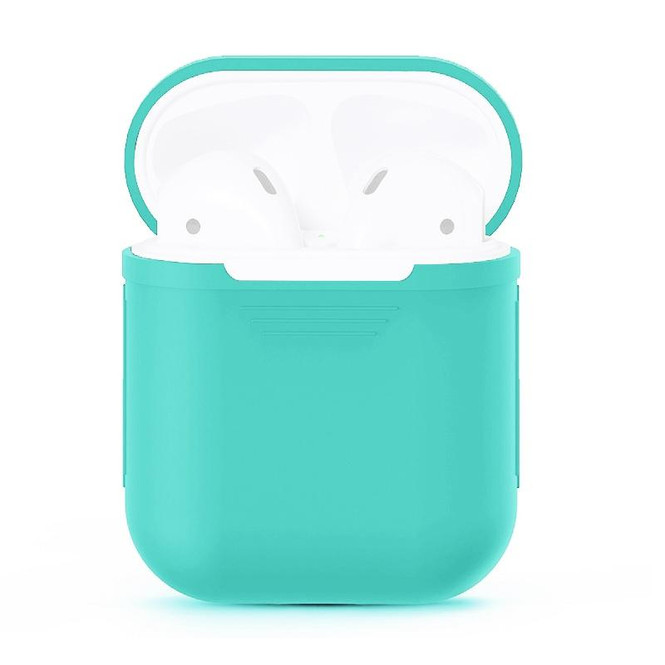 For Apple Airpods 1 & 2 Storage Bag Mint Green Silicone Protective Box with Impact-resistant, Scratch-proof and Antiloss | AirPods Accessories | iCoverLover