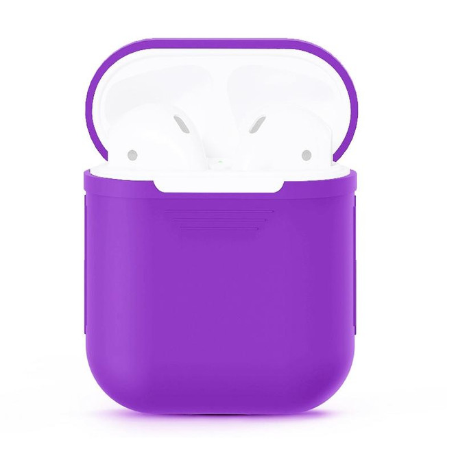 For Apple Airpods 1 & 2 Storage Bag Purple Silicone Protective Box with Impact-resistant, Scratch-proof and Antiloss | AirPods Accessories | iCoverLover