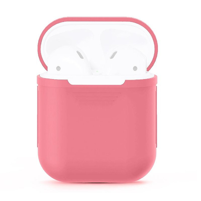 For Apple Airpods 1 & 2 Storage Bag Pink Silicone Protective Box with Impact-resistant, Scratch-proof and Antiloss | AirPods Accessories | iCoverLover
