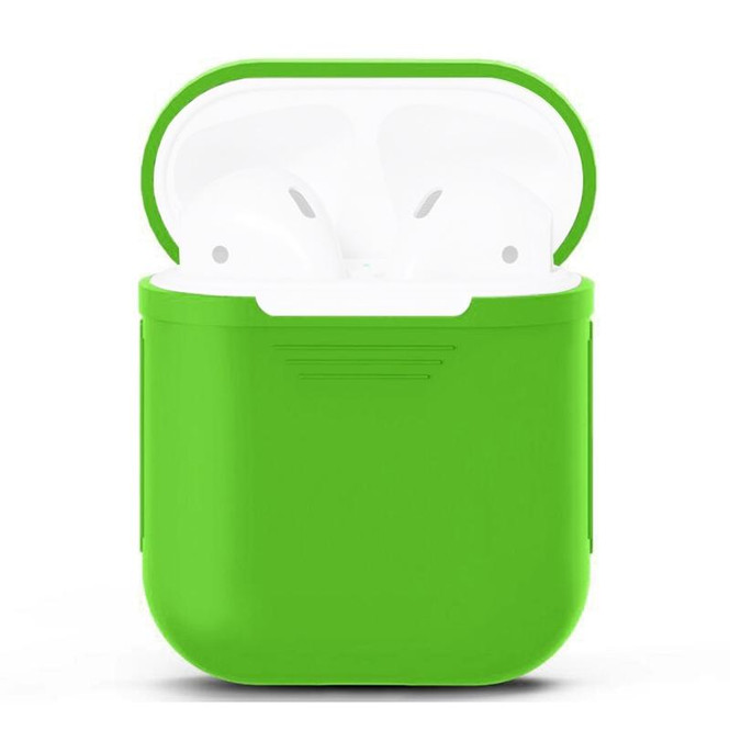 For Apple Airpods 1 & 2 Storage Bag Green Silicone Protective Box with Impact-resistant, Scratch-proof and Antiloss | AirPods Accessories | iCoverLover