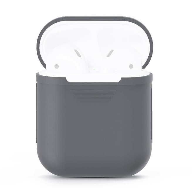For Apple Airpods 1 & 2 Storage Bag Grey Silicone Protective Box with Impact-resistant, Scratch-proof and Antiloss | AirPods Accessories | iCoverLover