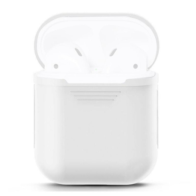 For Apple Airpods 1 & 2 Storage Bag White Silicone Protective Box with Impact-resistant, Scratch-proof and Antiloss | AirPods Accessories | iCoverLover