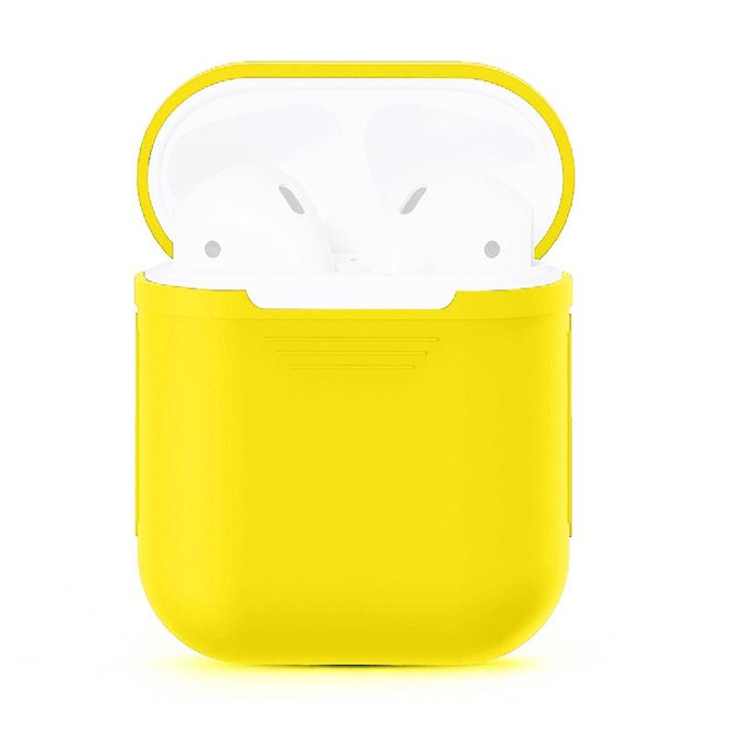 For Apple Airpods 1 & 2 Storage Bag Yellow Silicone Protective Box with Impact-resistant, Scratch-proof and Antiloss | AirPods Accessories | iCoverLover