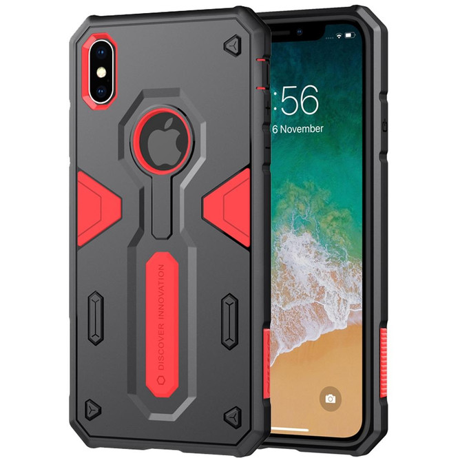 iPhone XS Max Tough Defender II Case Red Shockproof TPU and PC Armour Cover, Shatterproof, Anti Friction Design   Armor Apple iPhone XS Max Covers   Armor Apple iPhone XS Max Cases   iCoverLover