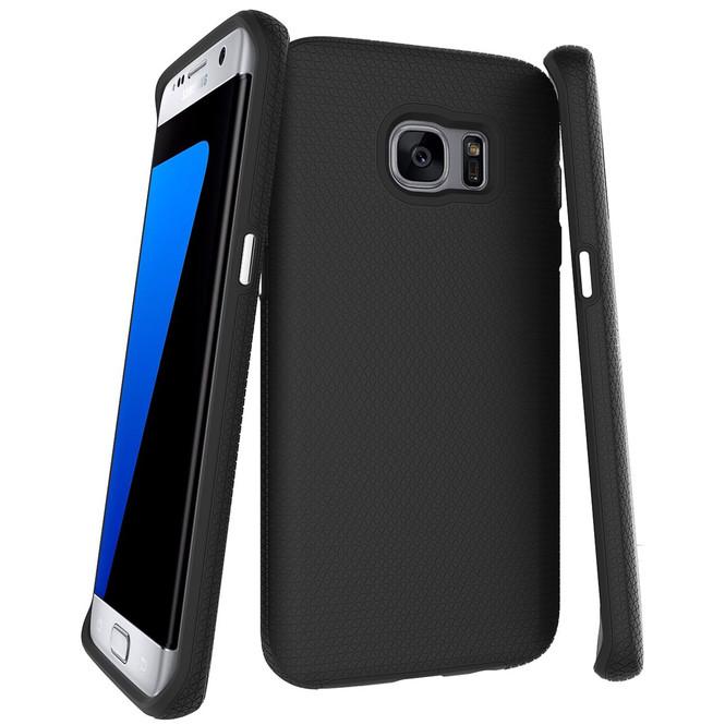 Black Armor Samsung Galaxy S7 Edge Case | Protective Samsung Galaxy S7 Edge Cases | Protective Samsung Galaxy S7 Edge Covers | iCoverLover