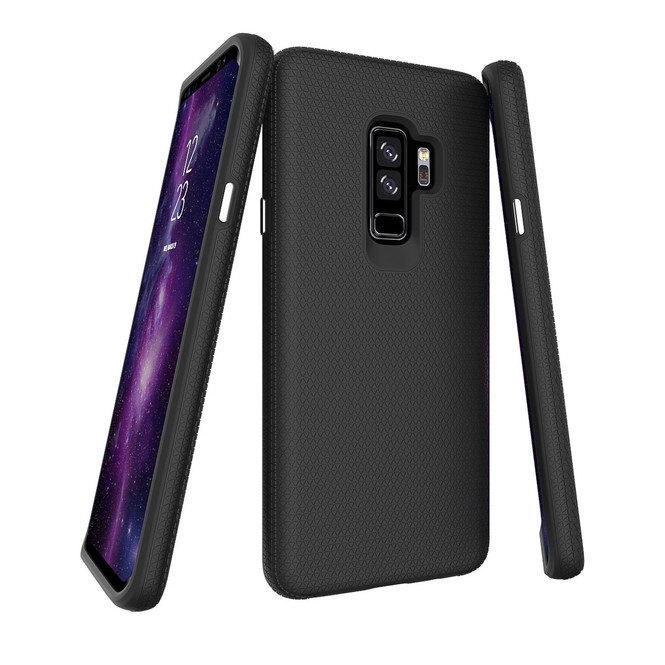Black Shockproof Protective Samsung Galaxy S9 PLUS Case | Armor Samsung Galaxy S9 Plus Cases | Shielding Samsung Galaxy S9 Plus Covers | iCoverLover