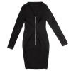 Black Back-Zip Dress