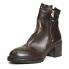 Brown Ankle Boot with Zipper