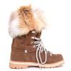 Nubuck Mid-Calf Boot with Fox Fur