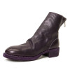 Horse Leather Back-Zip Boot in Plum